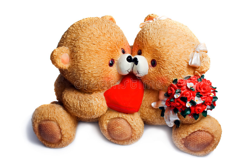 Two enamoured bear stock photography