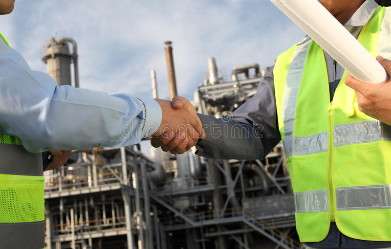 Download Two engineer oil industry stock image. Image of hand - 24395639