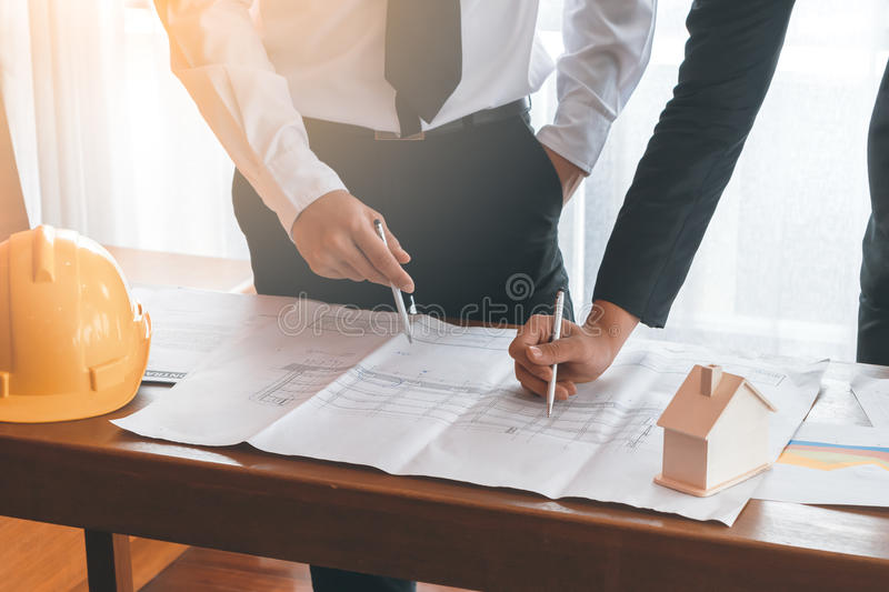 Two engineer working together royalty free stock images