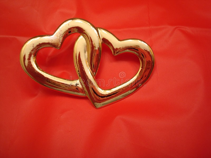 Download Two Entwined Hearts Stock Image - Image: 4236721