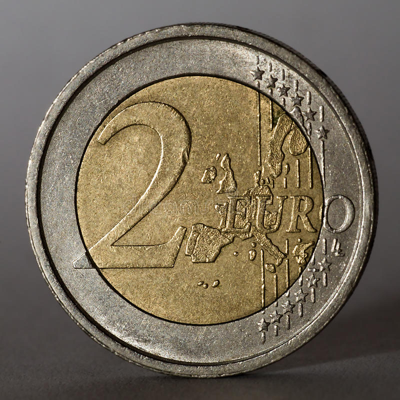 Download Two Euro Coin. Low Key. Royalty Free Stock Photography - Image: 23859507