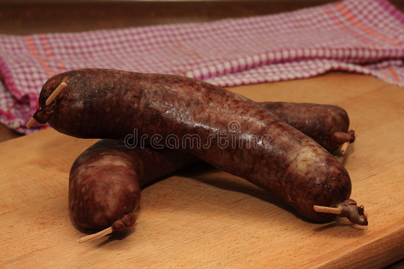 Download Two Excellent Black Pudding Stock Image - Image: 83711185