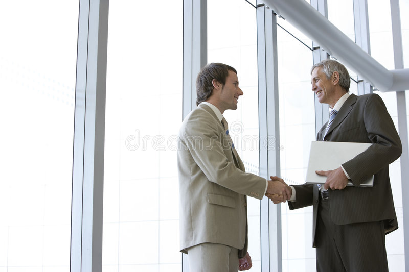 Download Two Executives Shaking Hands Stock Photo - Image: 4085994
