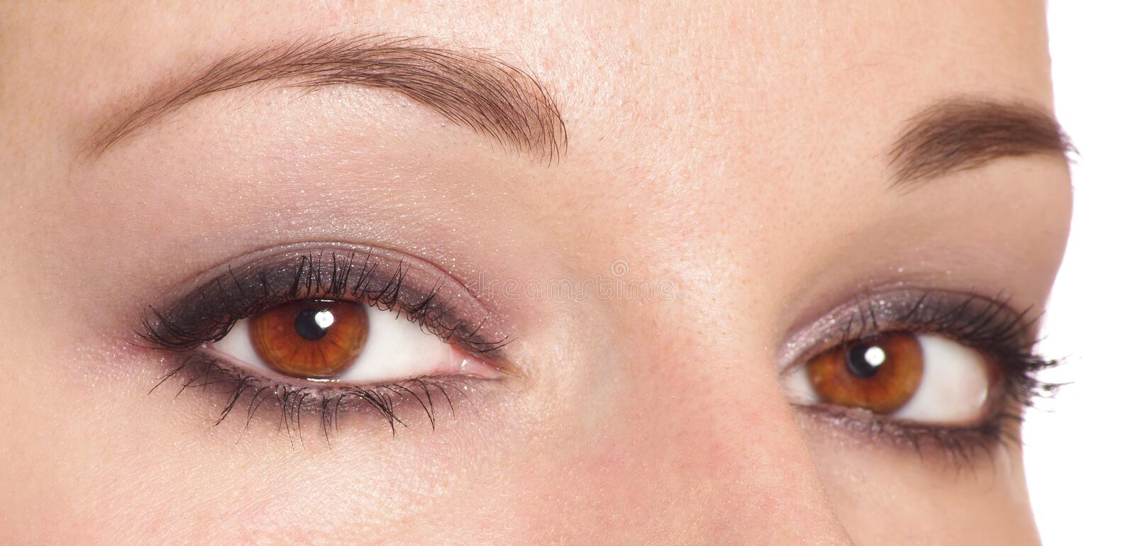 Two eyes. With make up royalty free stock image