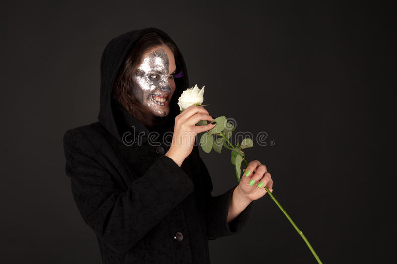 Download Two-faced Witch Holding The Rose Stock Photo - Image: 16268762