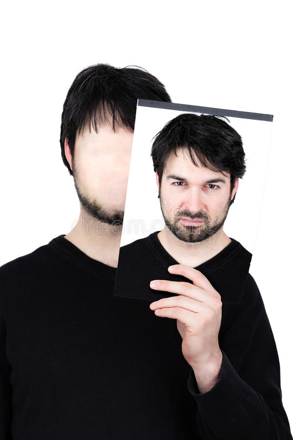 Irate Man Holding Mask Stock Image  Image Of Angry  Emotional