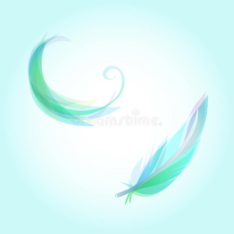 Falling feathers stock photography