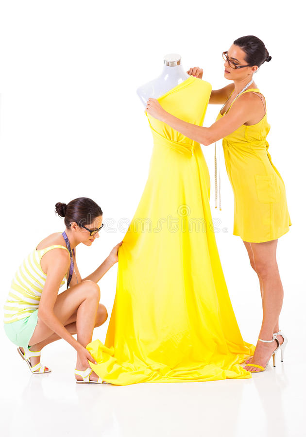 Two fashion designers royalty free stock image