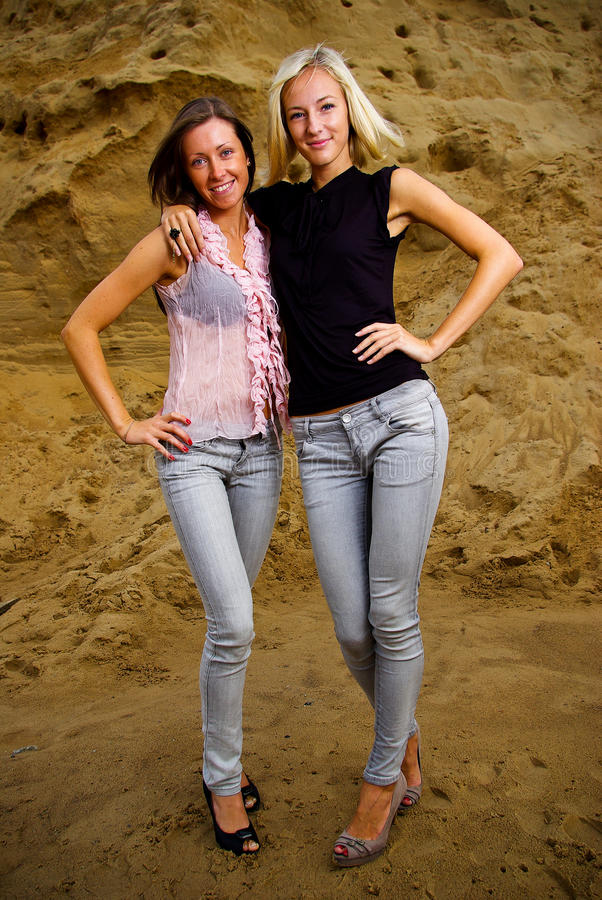 Download Two female friends stock photo. Image of friends, background - 15710206