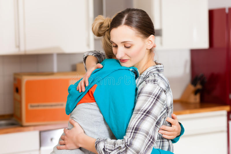 Download Two Female Friends Moving In An Apartment Stock Photo - Image: 24466576