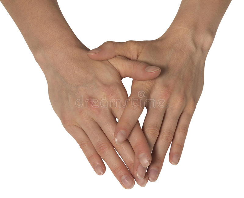 Download Two feminine hands stock photo. Image of connection, holding - 34820488