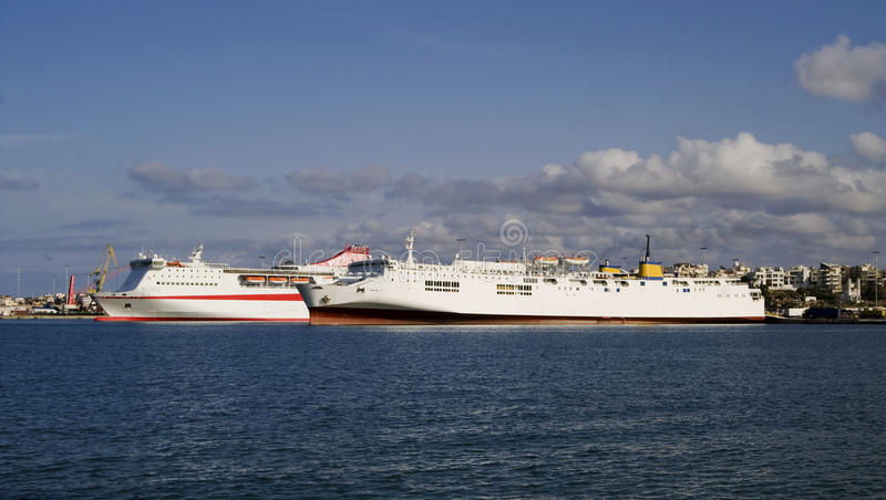 Download Two ferries stock image. Image of heraklion, blue, greece - 13198611