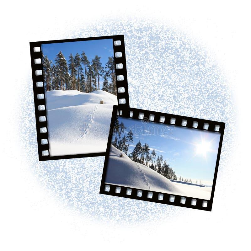 Two film frames stock illustration