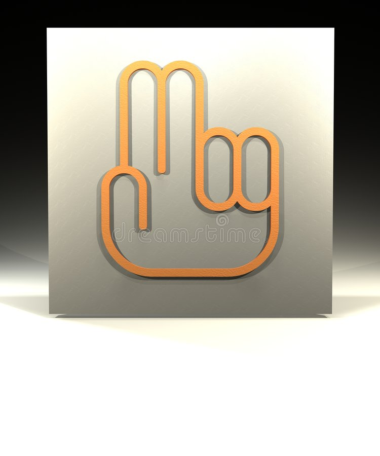 Download Two Fingers stock illustration. Image of number, peace - 1510246