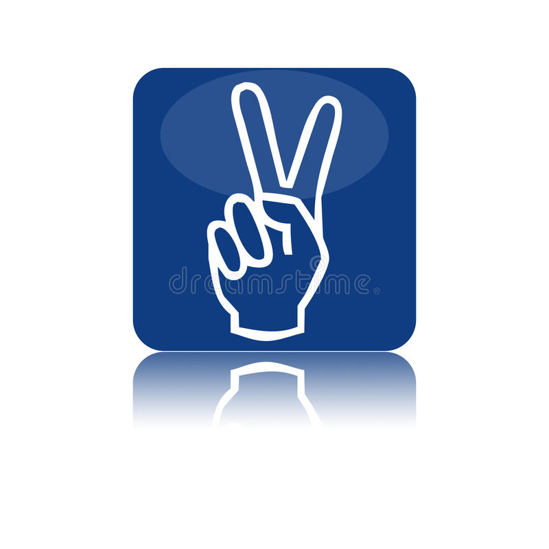 Download Two fingers icon stock illustration. Image of hand, button - 20937803