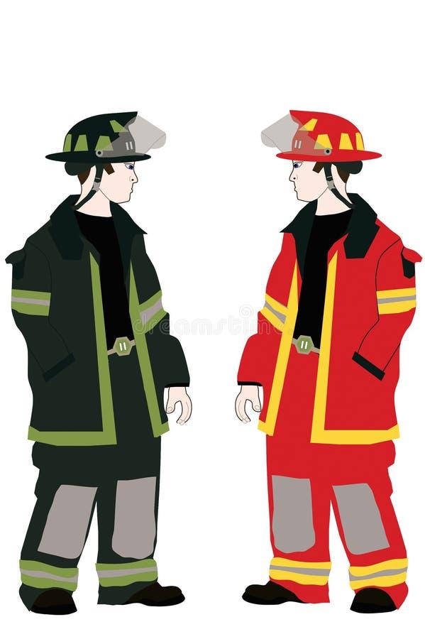 Two Firemen royalty free stock image