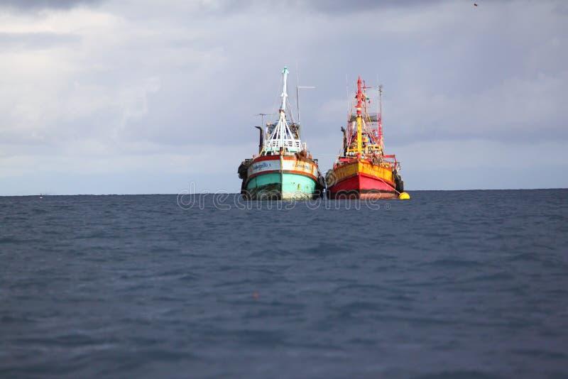 Two fishingboat royalty free stock image