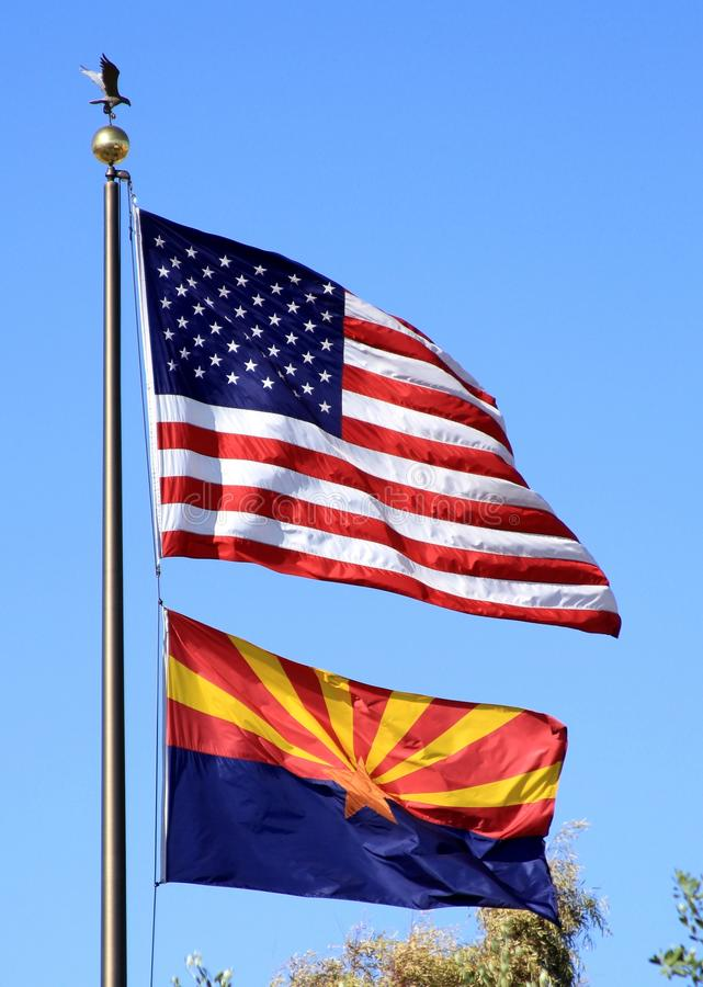 USA, Arizona: Two Flags
