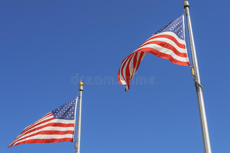 Two flags royalty free stock images