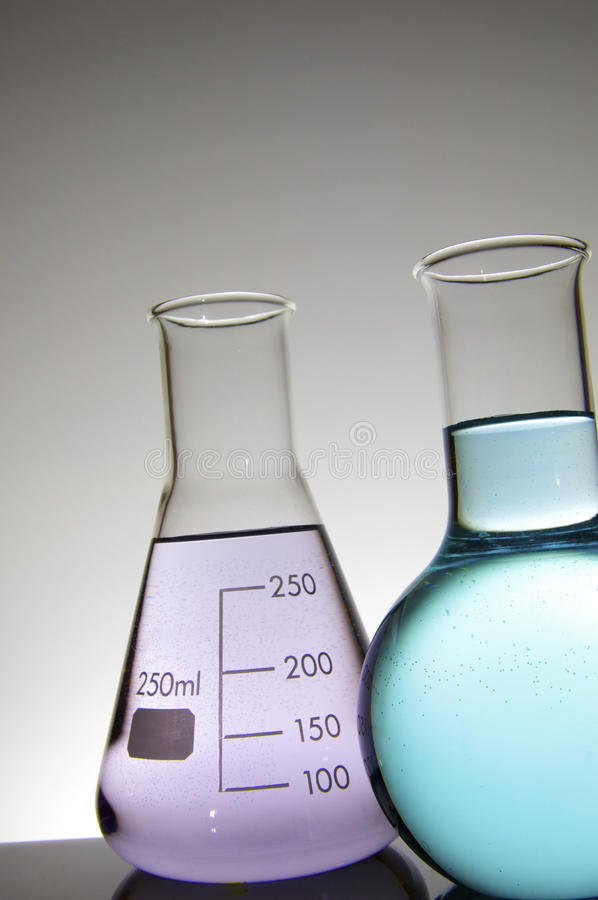 Download Two flasks stock photo. Image of flasks, industry, close - 13070588