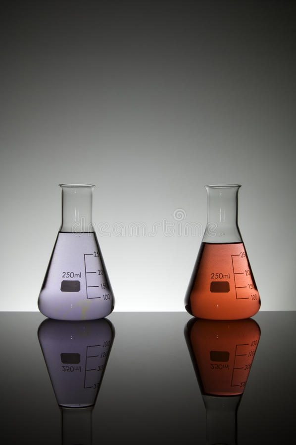 Two Flasks Stock Photos