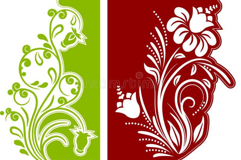 Two floral design elements royalty free illustration
