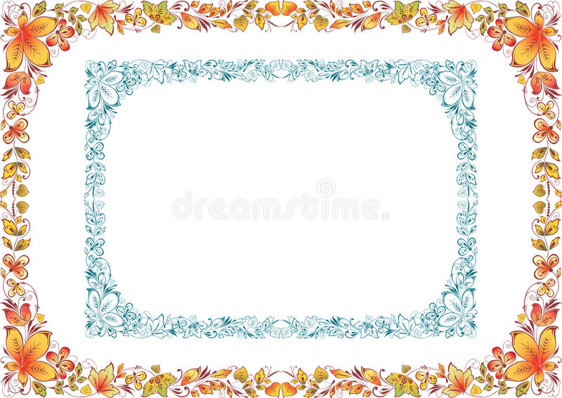Two floral frames stock vector. Illustration of elements - 47228550