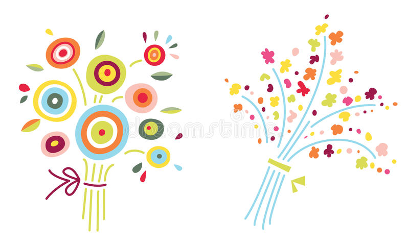 Download Two Flower Bouquets stock vector. Image of bloom, cute - 15028057