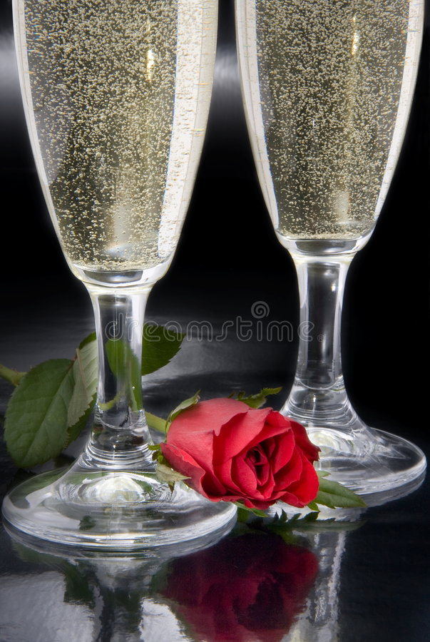 Two flutes of champagne