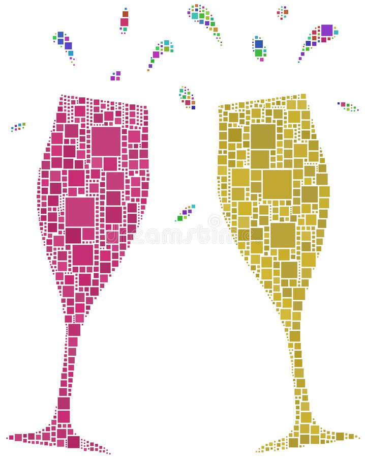 Download Two flutes for a cheers stock vector. Illustration of drinking - 14178810