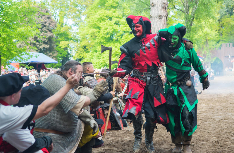 Download Two Fools On The Medieval Festival Editorial Image - Image: 31097840