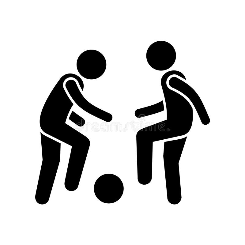 two football players with ball  vector icon stock vector