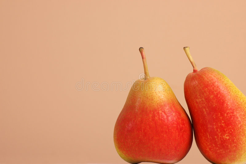 Two Forelle pears stock photos
