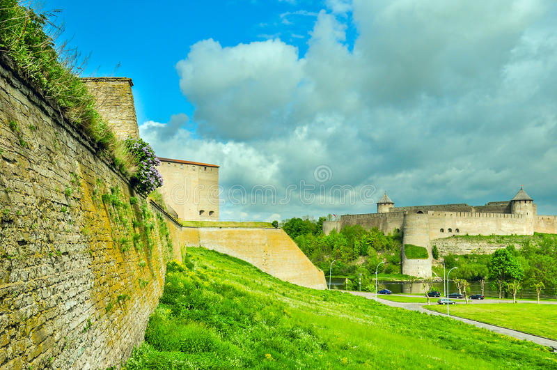 Two fortresses stock image
