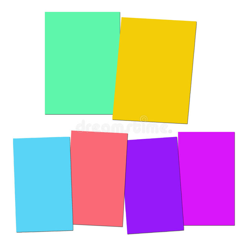 Two And Four Blank Paper Slips Show Copyspace For 2 Or 4 Letter. Two And Four Blank Paper Slips Showing Copyspace For 2 Or 4 Letter Words vector illustration