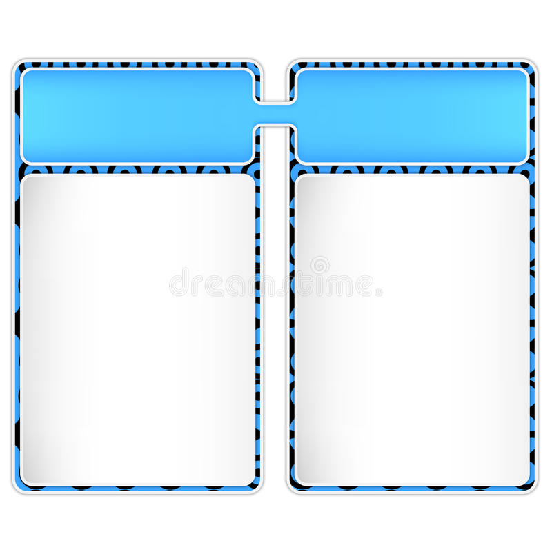 Two Frame For Text Royalty Free Stock Photos