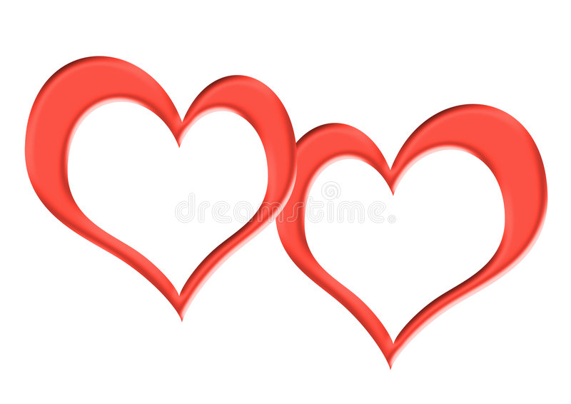 Download Two Frames In The Form Hearts Stock Illustration - Image: 3953218