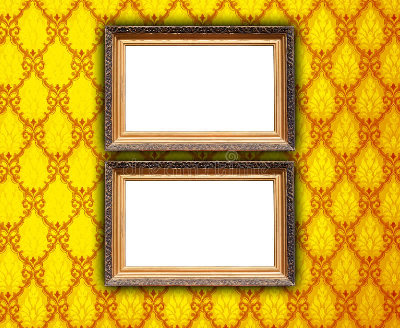 Two Frames on Patterned Background