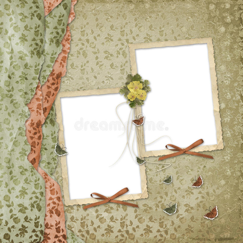 Two frames with ribbons stock image