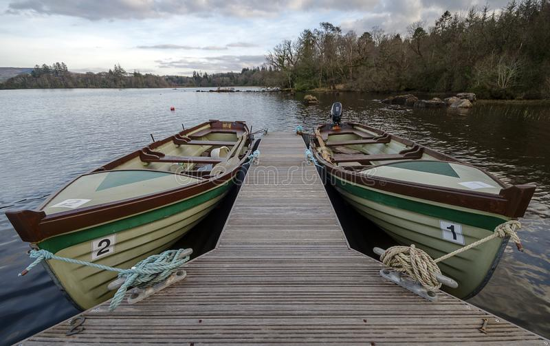 Lough Eske boats royalty free stock photos