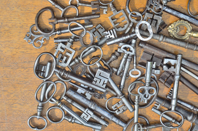 Antique Key Collection royalty free stock photo