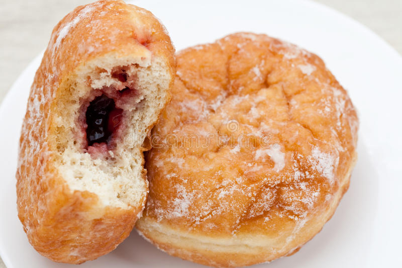 Two Fresh Donuts Stock Photography