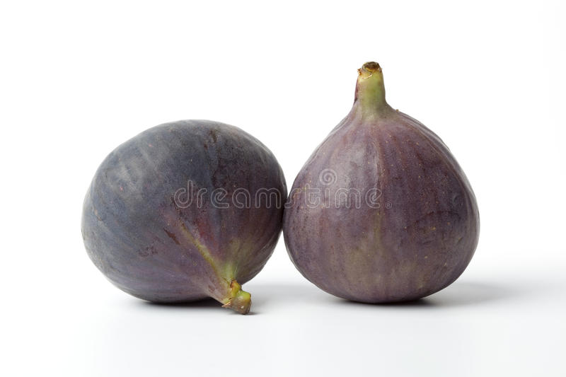 Two fresh figs stock image