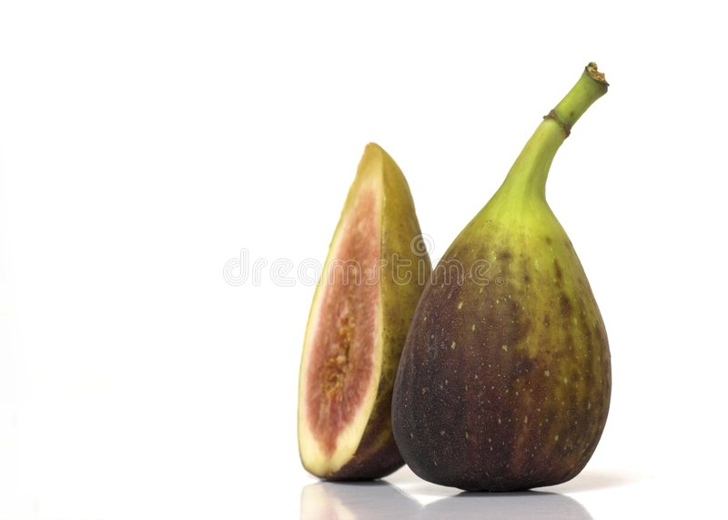 Two Fresh Figs royalty free stock image