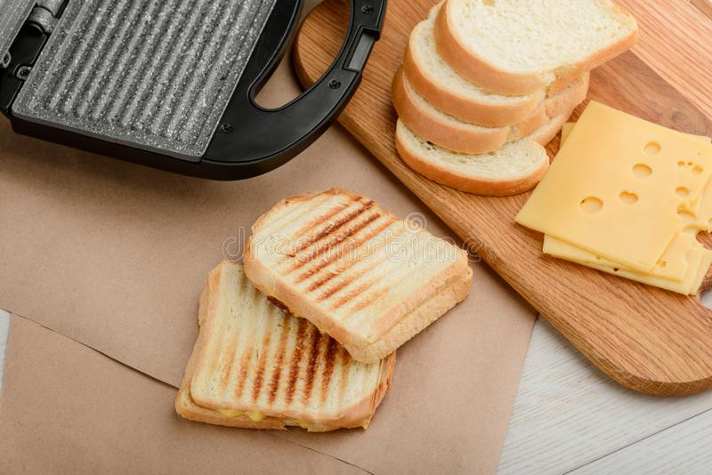 Two fresh homemade sandwiches stock image
