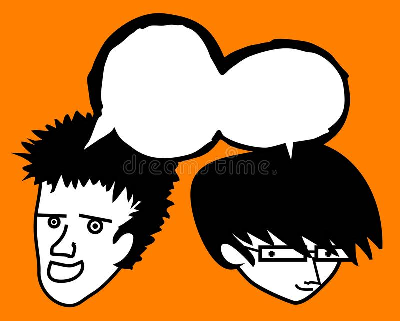 Download Two friend comic stock vector. Illustration of freak - 22574861