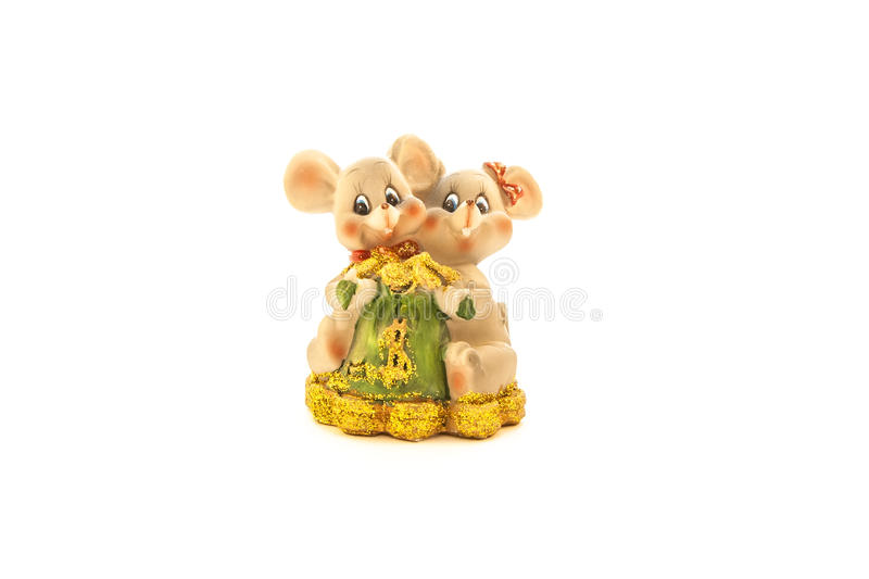 Two friendly mice stock photography