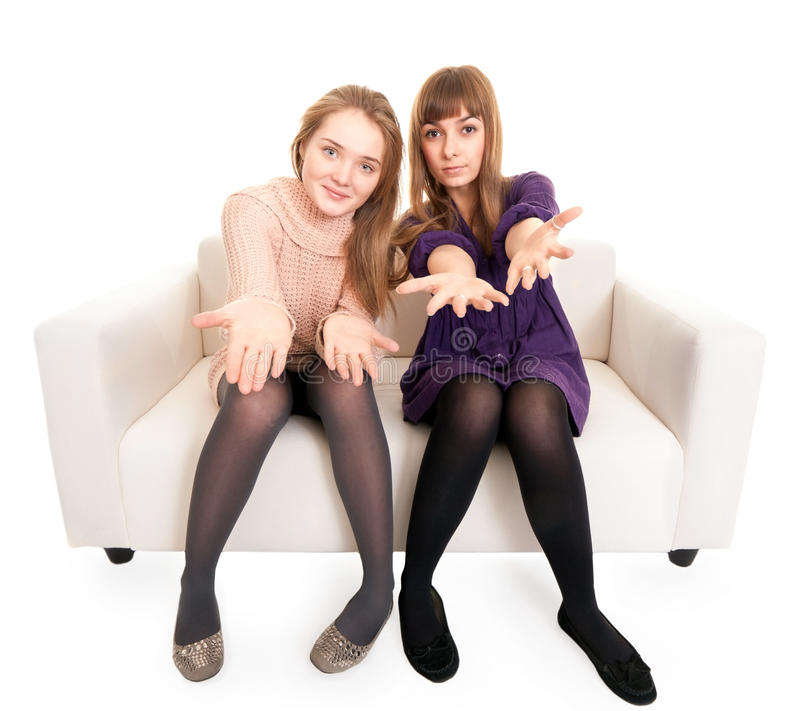 Download Two friends stock image. Image of attractive, happy, female - 17710851