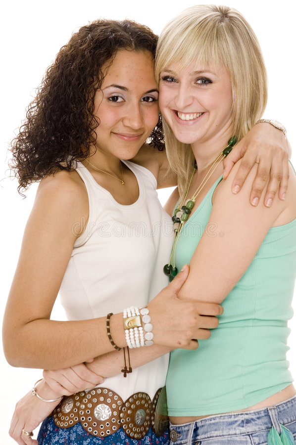 Download Two Friends stock photo. Image of mixed, beauty, young - 729130
