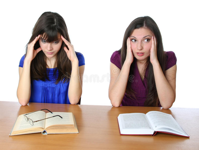 Download Two Friends Are Preparing For The Exam For Books Stock Image - Image: 17741173